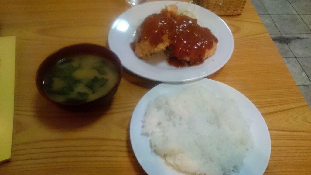 【美味しい新所沢の定食】キッチンサン チキンカツ定食540円
