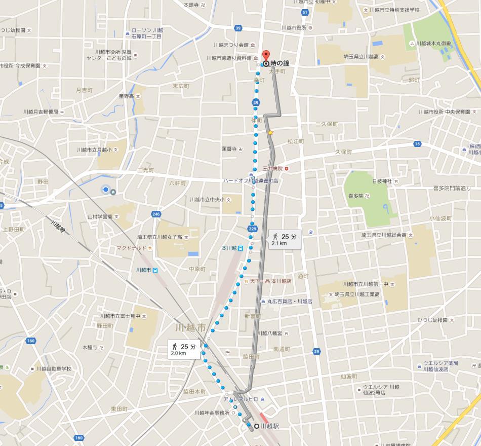 川越駅からだと25分。しかも人混みがすごい