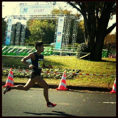 【街歩き-川越】2013年川越マラソン終了。川越汁美味でした。川内優輝選手ハーフ一位。1時間4分44秒。