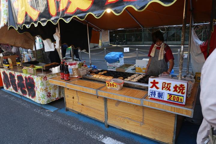 【美味しい川越祭り】屋台:大阪焼き200円 川越プリンスホテル前