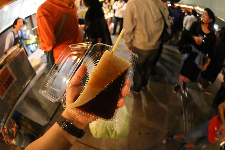 【美味しい川越祭り】屋台:味噌おでん1本150円。蔵里内屋台。